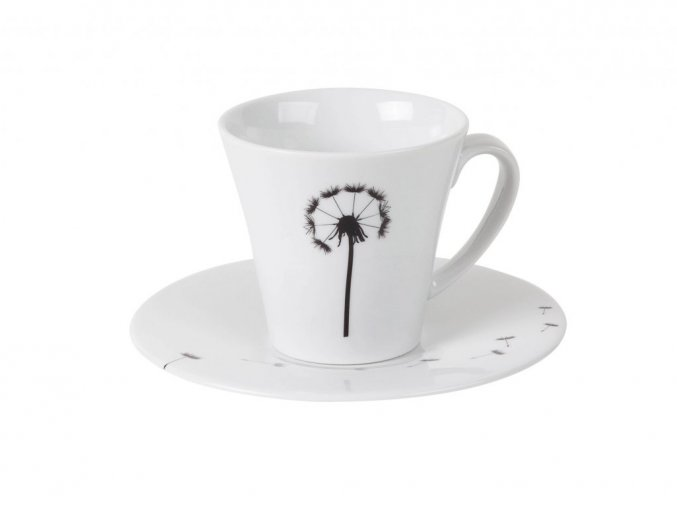 Porcelánový šálek s podšálkem FLY 160 ml By Inspire