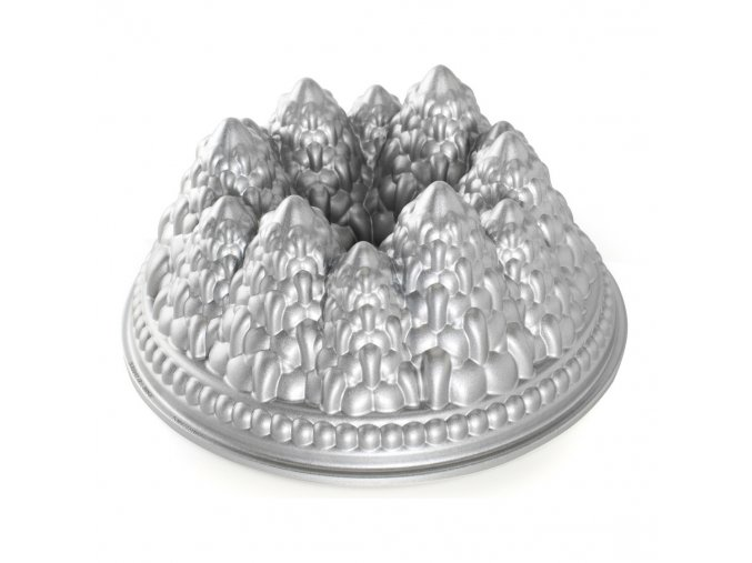 Forma na bábovku PINE FOREST ( les ) 9 cup stříbrná Nordic Ware