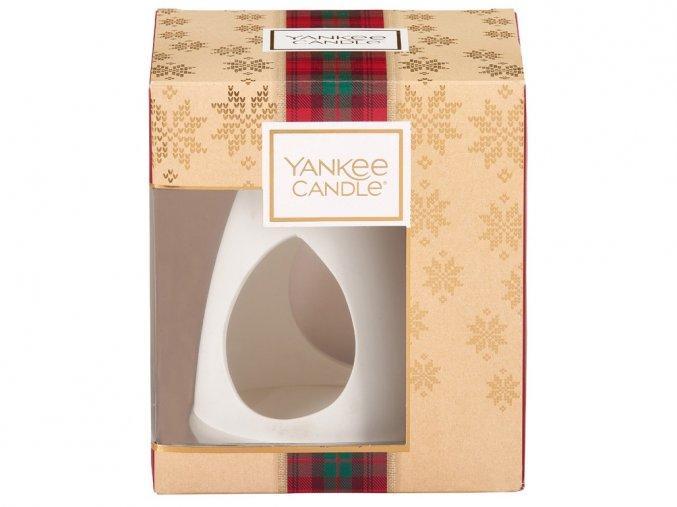 Yankee Candle dárková sada vánoční 3 ks vonný vosk + bílá aromalampa
