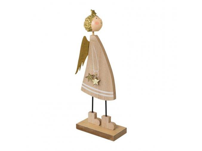 Dřevěný anděl v. 17 cm Gasper