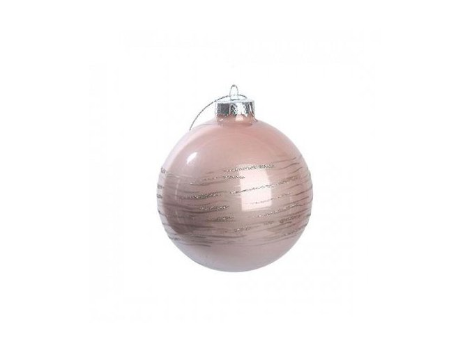 Vánoční koule 8 cm růžová Apotek