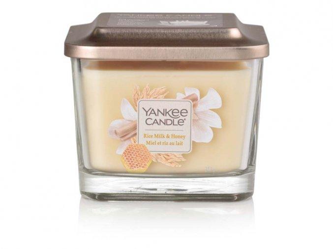Yankee Candle vonná svíčka ELEVATION Rice Milk & Honey, sklo střední