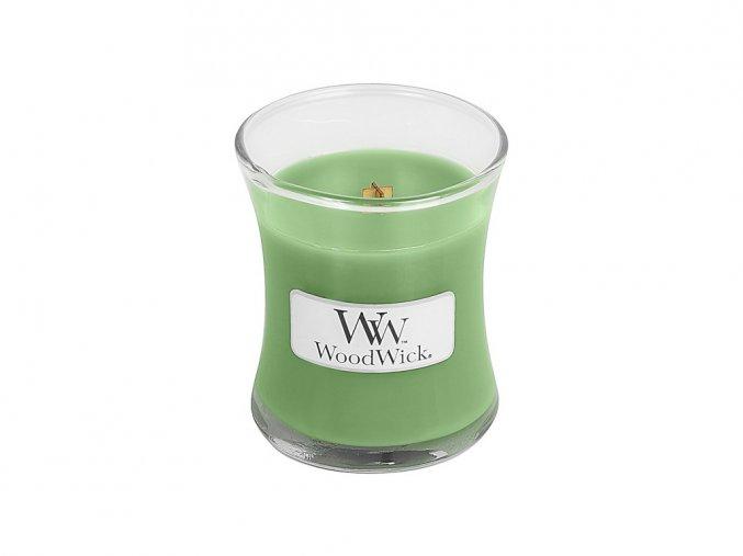 WoodWick vonná svíčka sklo malé HEMP & IVY 85 g