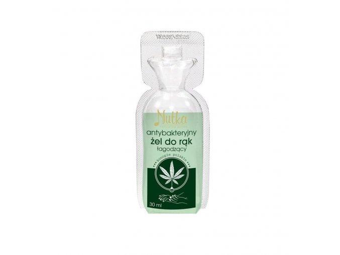 Antibakteriální konopný gel na ruce NUTKA 30 ml