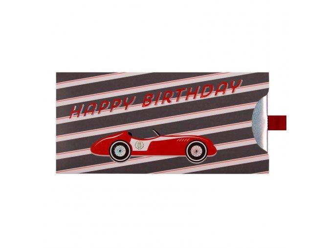 Dárková obálka přání 23 x 11 cm auto, Artebene