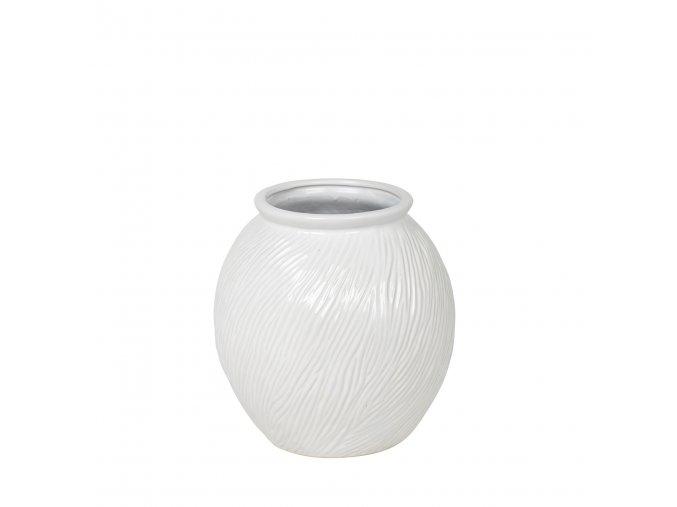 Váza SANDY v. 21 cm, bílá Broste