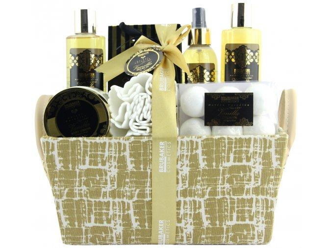 Dárková kosmetická sada do koupele, sprchy 14 díl. vanilka, růže a máta