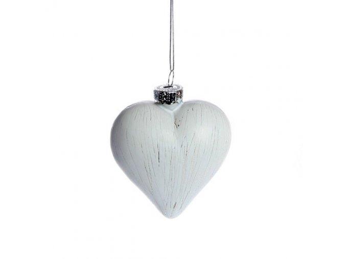 Srdce na zavěšení 8 cm, bílá Det Gamle Apotek