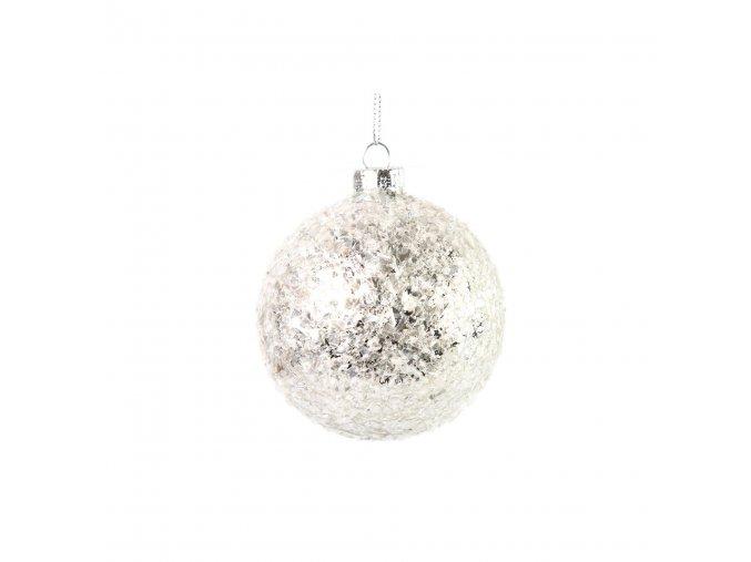 Vánoční ozdoba,koule ABBEY S bílá, Countryfield