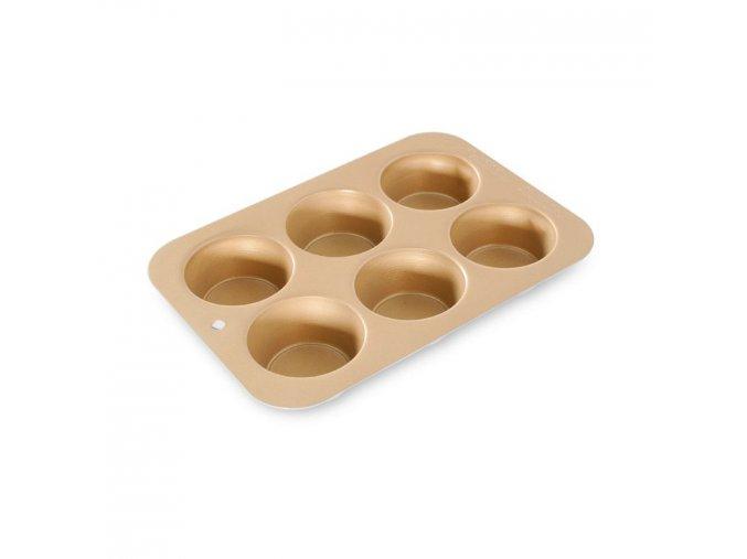 Plech na muffiny se 6 formičkami, zlatý Nordic Ware