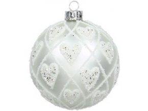 Vánoční ozdoba bílá 8 cm Kersten