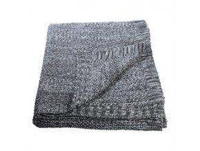 Pletená deka šedý melír