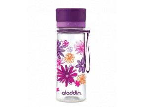 ALADDIN AVEO láhev na vodu 350 ml fialová s potiskem