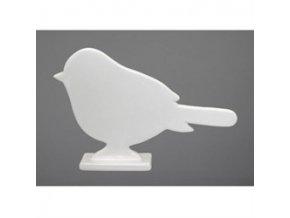 Keramický ptáček bílý 12,3 cm Gasper