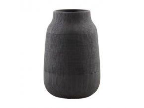 Váza GROOVE černá 22 cm House Doctor