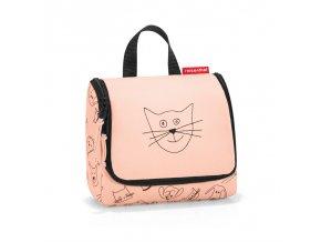 Kosmetická taška toiletbag S kids cats and dogs rose