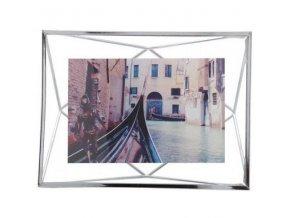 Fotorámeček PRISMA 10 x 15 cm stříbrný Umbra