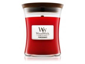 WoodWick vonná svíčka sklo střední POMEGRANATE