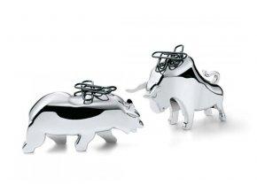 Magnet na kancelářské svorky Bull & Bear stříbrný Philippi
