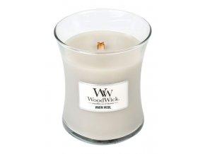 WoodWick vonná svíčka sklo střední WARM WOOL