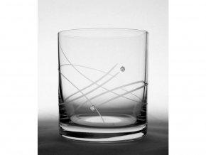 Sklenice na whisky sada 6 ks Swarovski Elements 280 ml