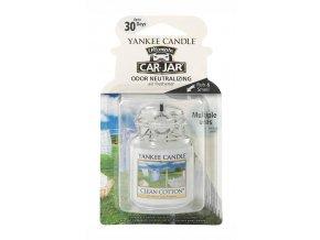 Yankee Candle gelová visačka vůně do auta Clean Cotton