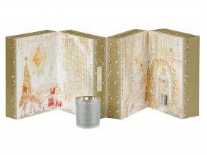 Yankee Candle vánoční adventní kalendář 3D 12ks čajových svíček + 12ks votiv svíček