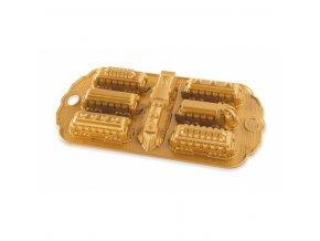Forma POLÁRNÍ EXPRES plát se 7 formičkami zlatá Nordic Ware
