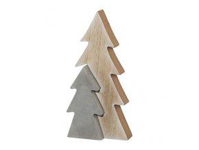 Dekorace strom jedle dřevo, cement, Gasper