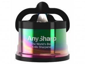 Brousek na nože Any Sharp Pro Chef metalický duhový