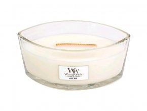 WoodWick vonná svíčka loď WHITE TEAK