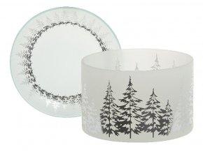 Yankee Candle WINTER TREES stínítko + talíř velký