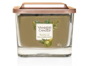 Yankee Candle vonná svíčka ELEVATION Pear & Tea Leaf sklo střední
