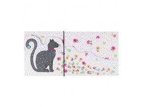 Dárková obálka přání 23 x 11 cm kočka ARTEBENE