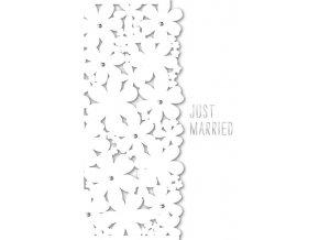 Přání s obálkou svatební květy Artebene