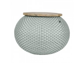Stolek HALO v. 40 cm, světle šedý Handed By