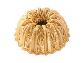 Forma na bábovku CUT CRYSTAL 10 cup zlatá Nordic Ware