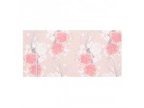 Dárková obálka přání 23 x 11 cm růžové květy Artebene