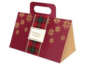 Yankee Candle dárková sada vánoční 3 ks votivní svíčka kabelka