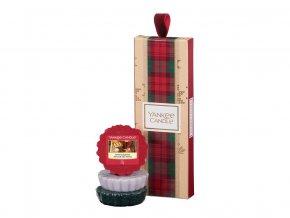Yankee Candle dárková sada vánoční 3 ks vonný vosk do aromalampy