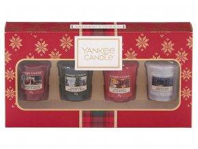 Yankee Candle dárková sada vánoční 4 ks votivní svíčka