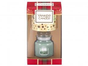 Yankee Candle dárková sada vánoční 1 ks svíčka Classic malý + malé stínítko