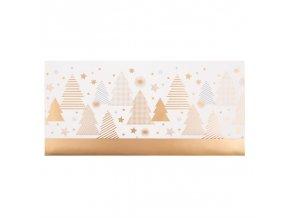 Dárková obálka přání 23 x 11 cm vánoční stromky Artebene