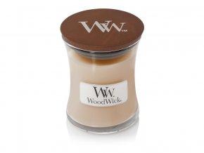 WoodWick vonná svíčka sklo malé WHITE HONEY 85 g