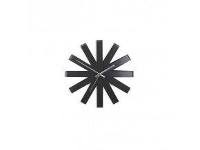 Nástěnné hodiny RIBBON 30 cm, černé UMBRA