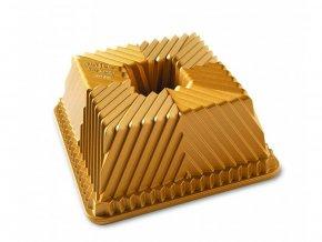 Forma na bábovku BAVARIA hranatá 10 cup, zlatá Nordic Ware