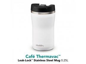 Termohrnek Café Thermavac Leak Lock 250 ml, bílá ALADDIN 2
