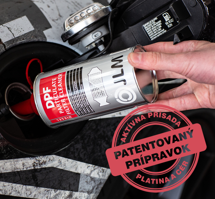 Patentovana prísada čistenie DPF