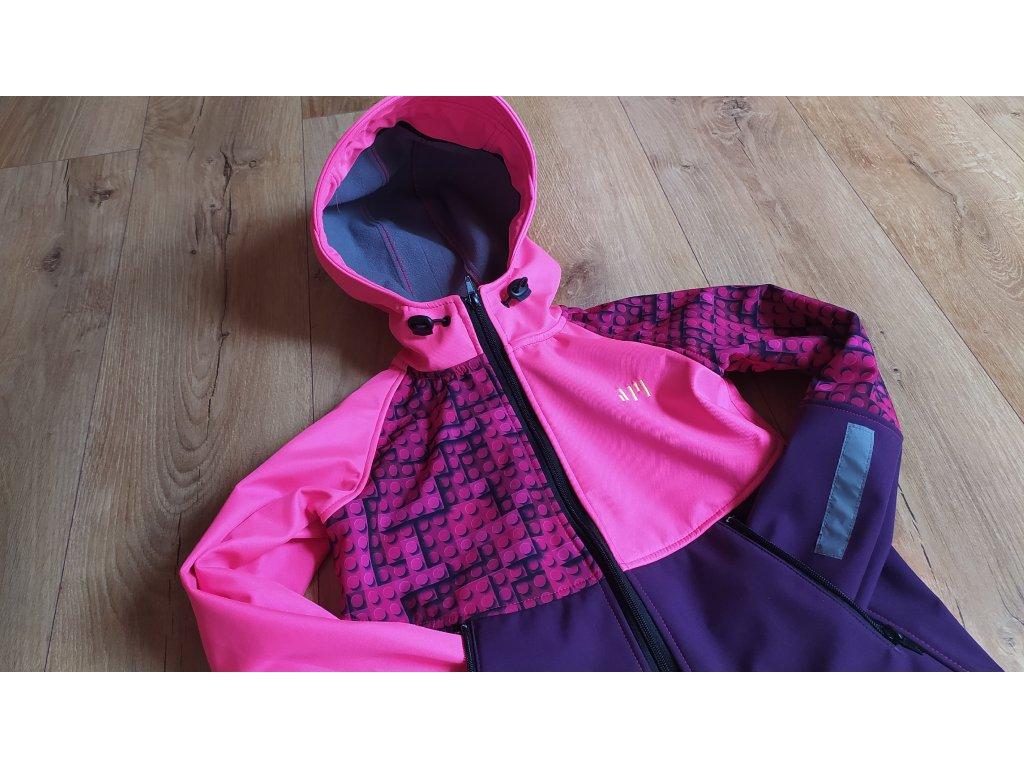 110 116 softshellová bunda lego růžové (3)