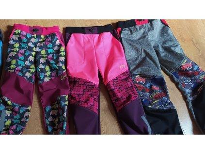 softshell kalhoty 110 116 lego ružov